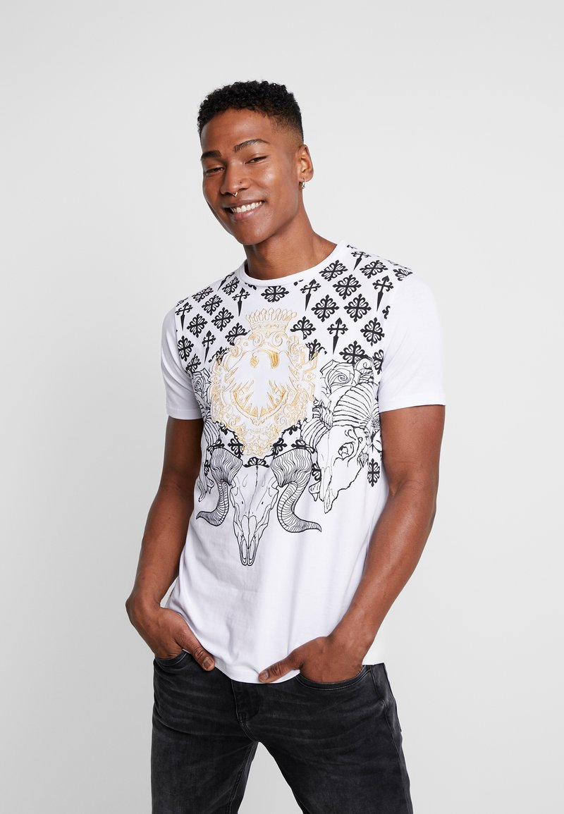 AFTERMATH - RAMSKULL - T-shirt med print - white