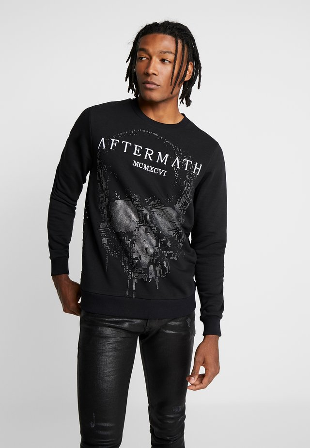 WITH DIGITAL SKULL  - Sweatshirt - black