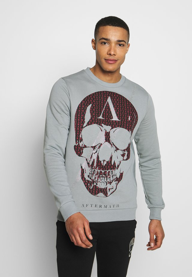 CRYSTAL STUDDED WITH SKULL  - Bluza - grey