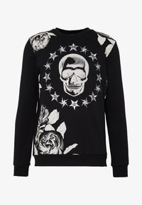 AFTERMATH - CRYSTAL STUDDED WITH SKULL AND STAR - Sweatshirt - black - 4