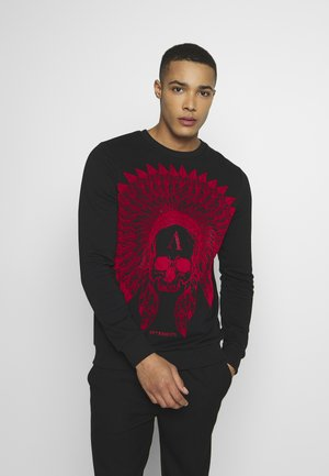 CRYSTAL STUDDED WITH SKULL - Sweatshirt - black