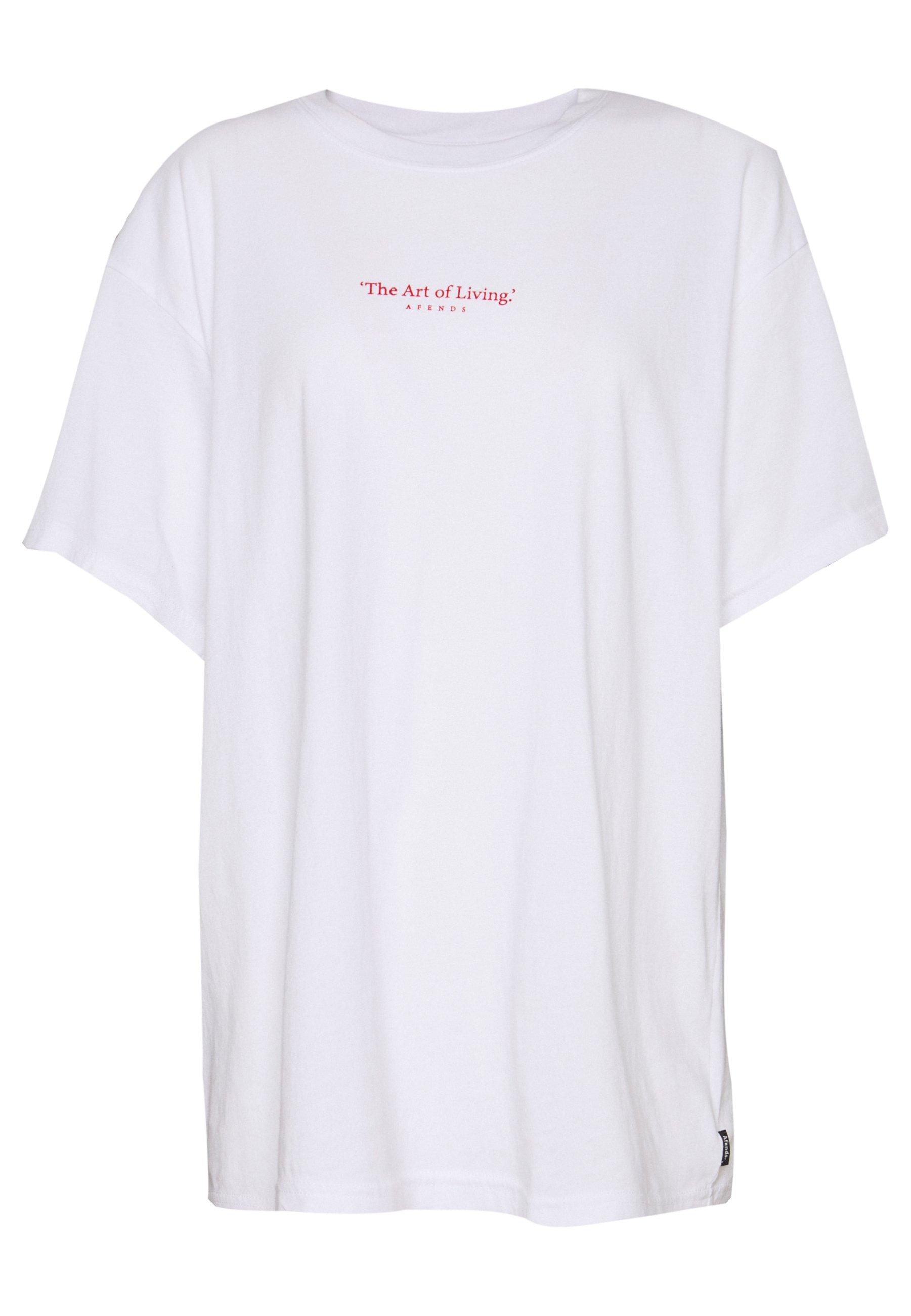 Afends Art Of Living - T-shirt Med Print White