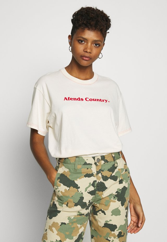 COUNTRY - T-shirt med print - ivory