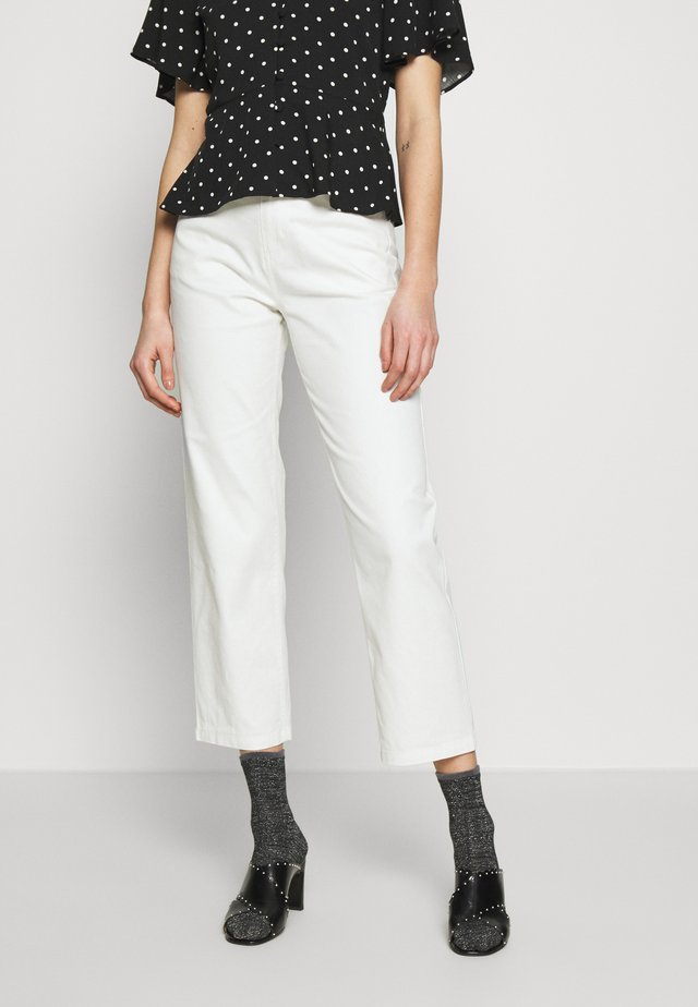 SHELBY - Straight leg jeans - cream