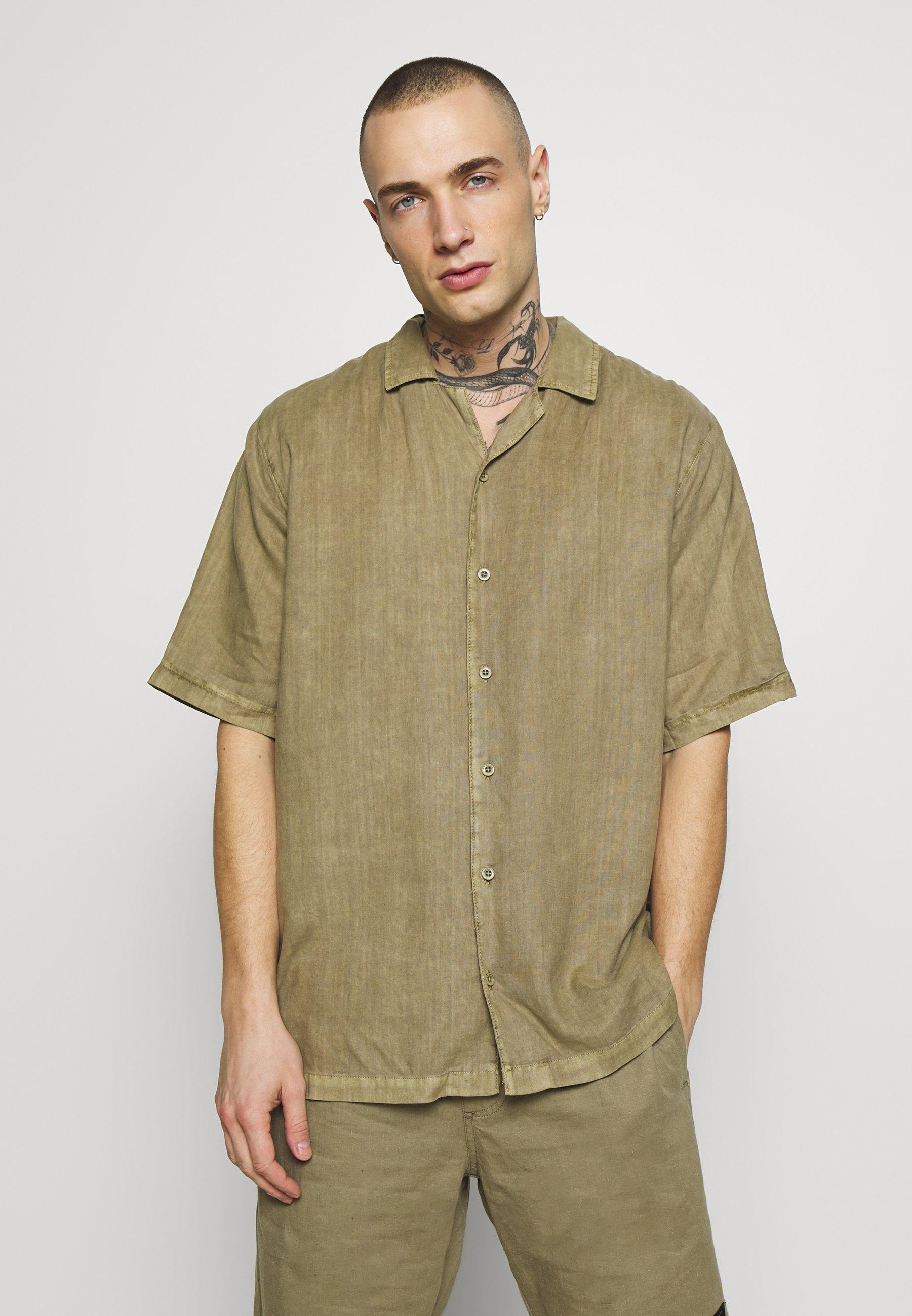 Afends CUBAN SHORT SLEEVE SHIRT - Koszula - covert green