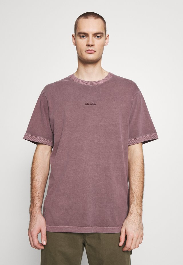 SEVENTIES RETRO FIT RINGER TEE - T-shirt basic - mulberry
