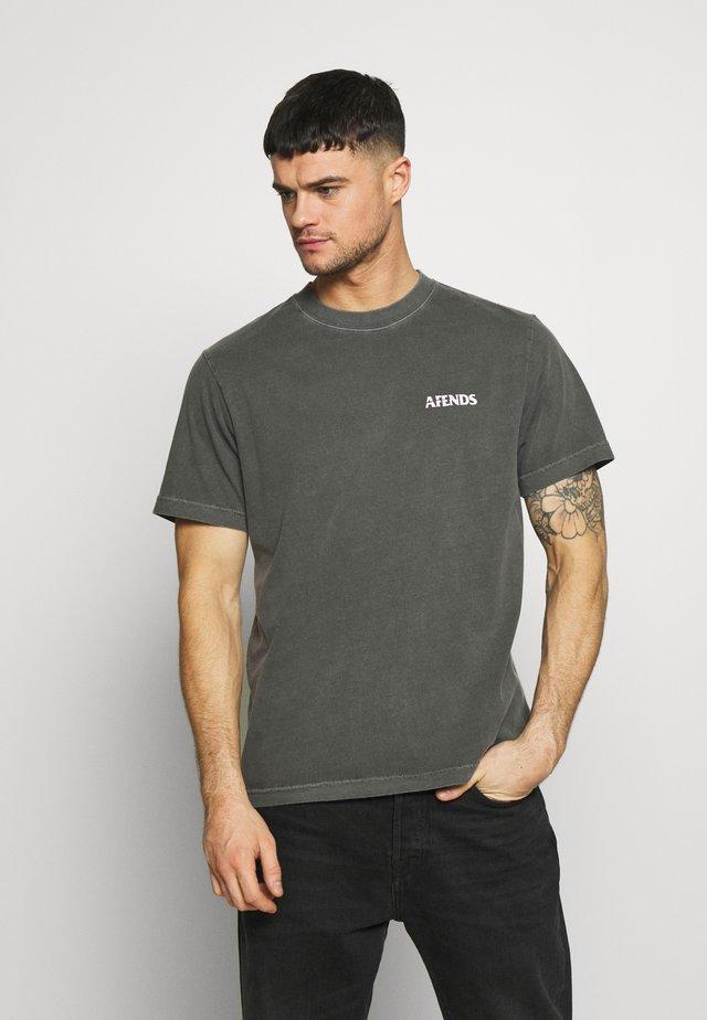 NO TOMORROW RETRO FIT TEE - T-shirt imprimé - stone black