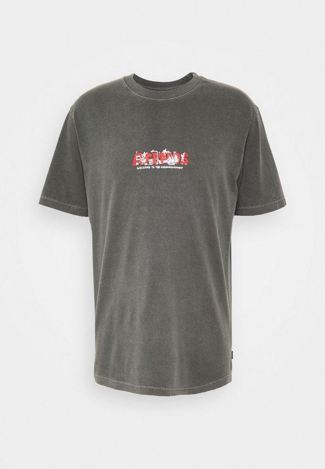 SOCIAL BURNOUT RETRO FIT TEE - T-shirt imprimé - raven