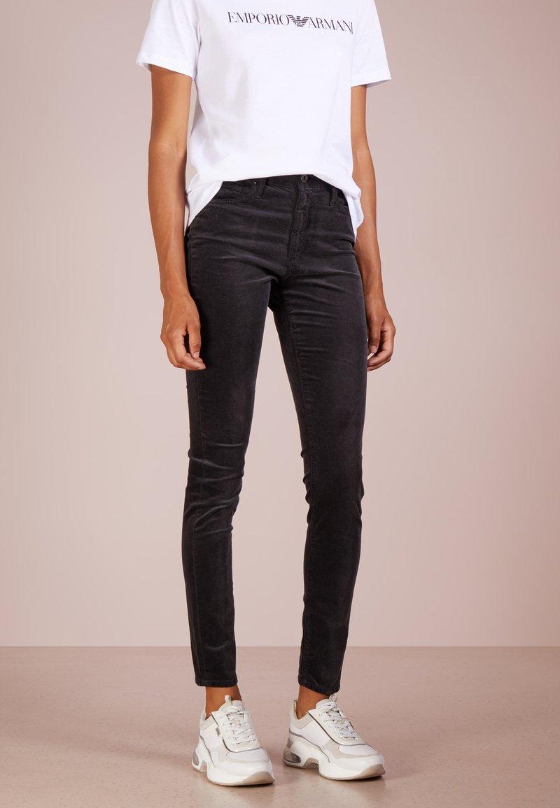 AG Jeans - FARRAH SKINNY VELVET - Trousers - grey