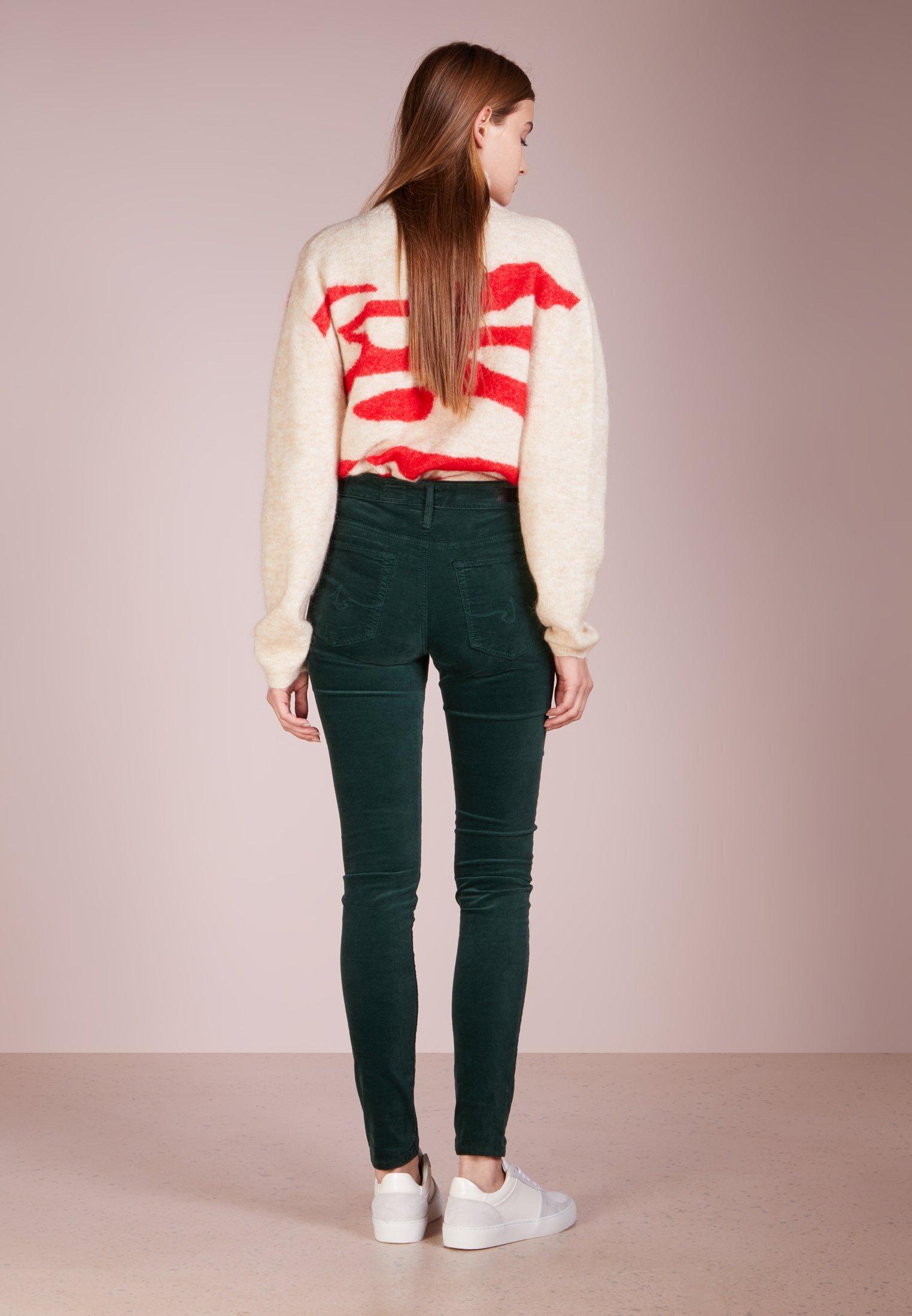 AG Jeans FARRAH SKINNY VELVET - Pantalon classique green