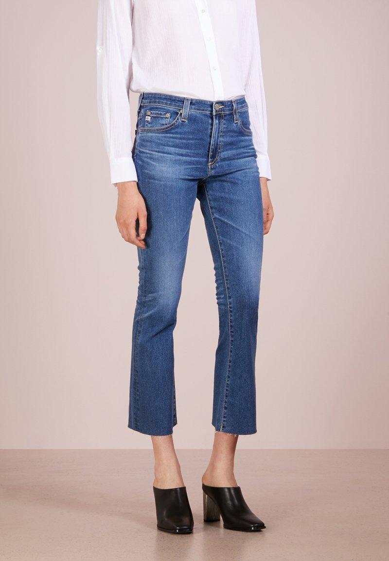 AG Jeans - JODI CROPPED - Bootcut jeans - blue denim