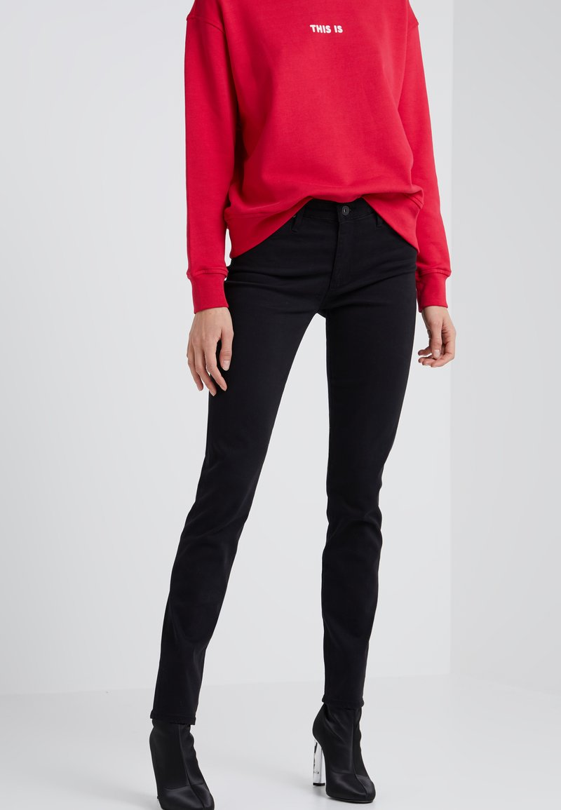 AG Jeans - PRIMA - Trousers - super black