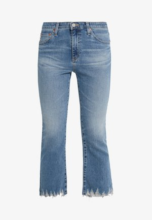 JODI CROP - Džíny Bootcut - blue denim