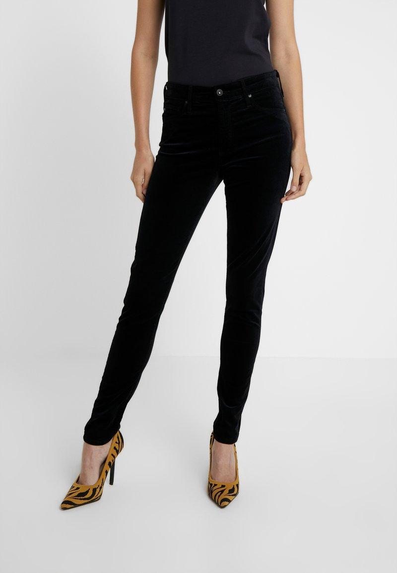 AG Jeans - FARRAH - Stoffhose - super black