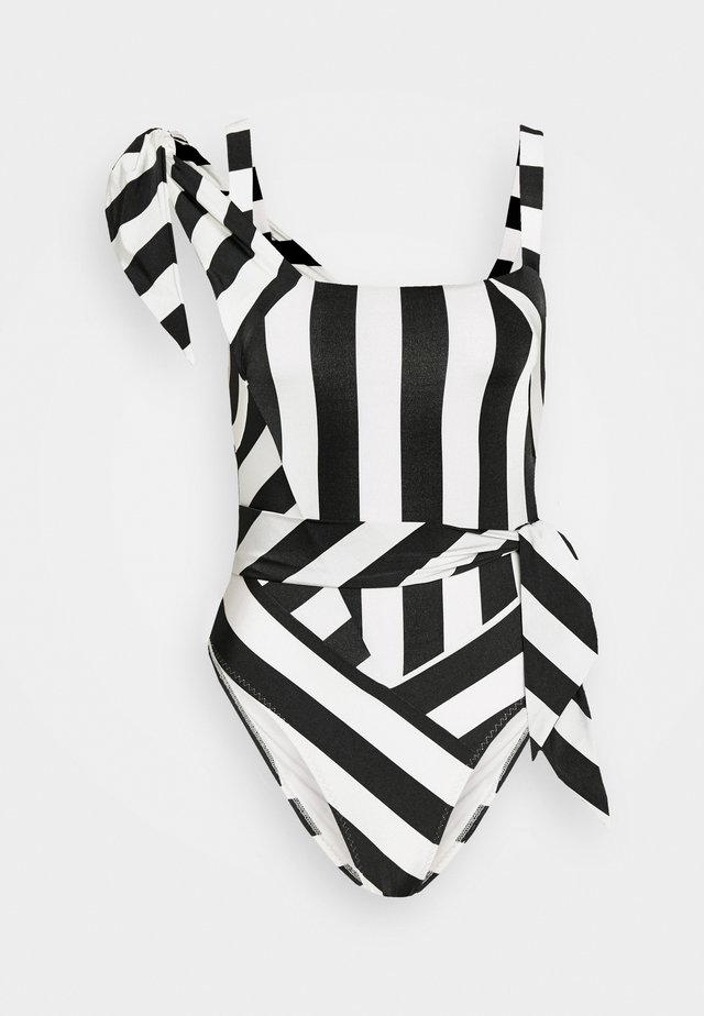 JONELLE SWIMSUIT - Swimsuit - black/white