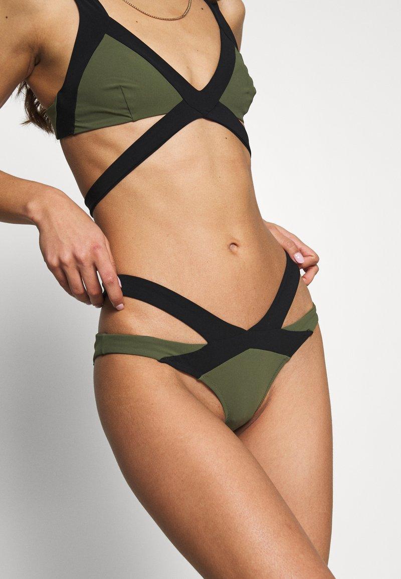 Agent Provocateur - MAZZY BRIEF - Bikini bottoms - black/khaki