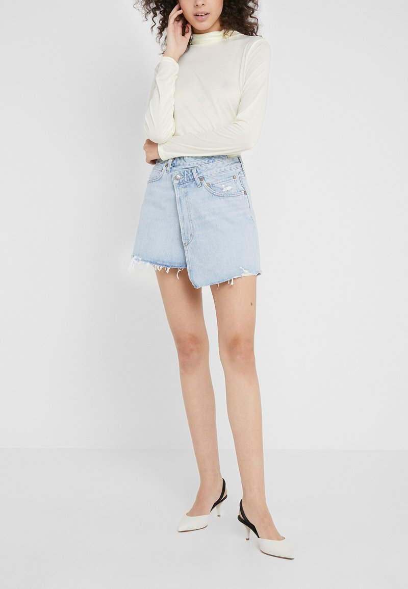 Agolde - CRISS CROSS SKIRT - Jeansrock - blue denim