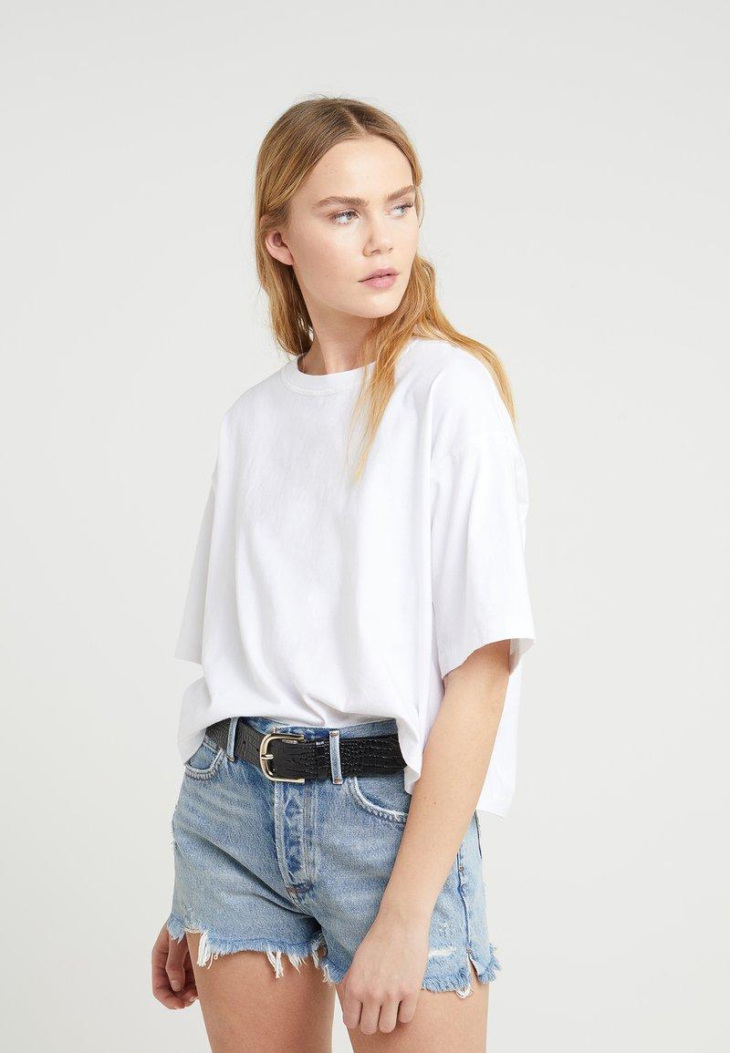 Agolde - BOXY TEE - T-shirts basic - white