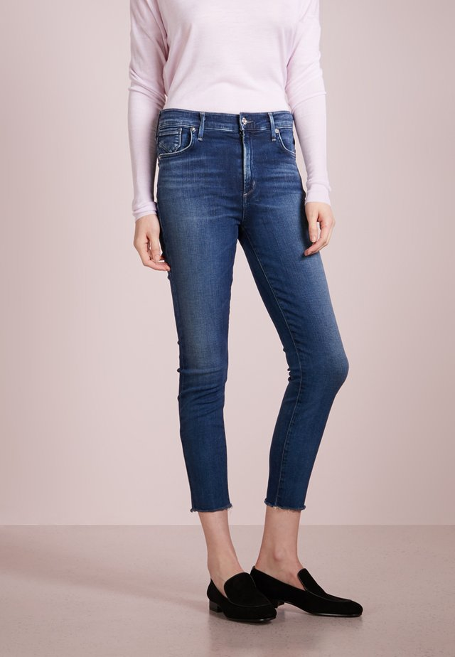 SOPHIE CROPPED SKINNY - Jeans Skinny Fit - blue denim