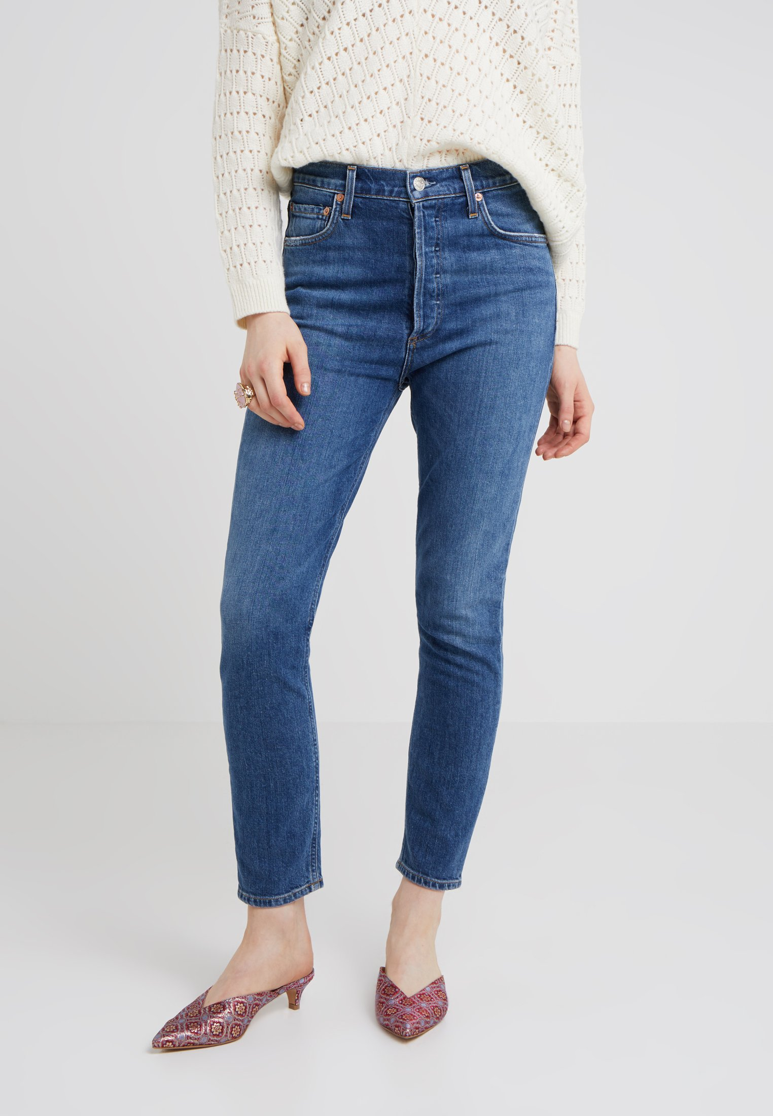 Agolde NICO HIGH RISE - Jeansy Skinny Fit - subdued