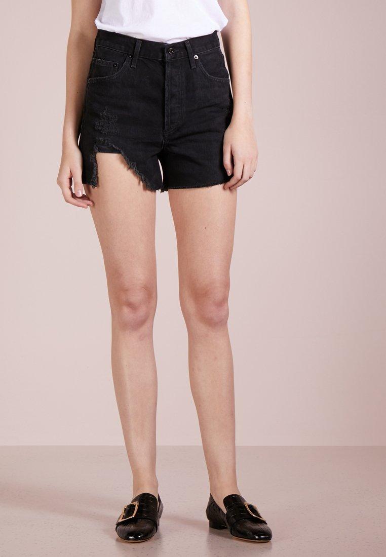 Agolde - DEE HIGHRISE - Jeans Short / cowboy shorts - black