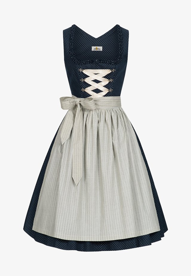 ULRIKE - Dirndl - dark blue/green/grey