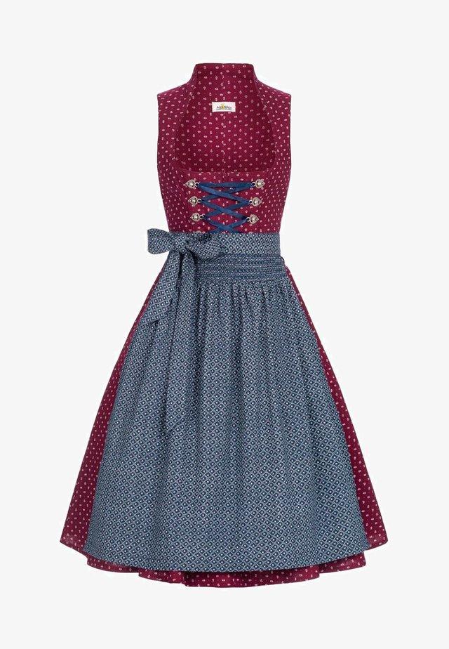 OLIVIA - Dirndl - burgundy/blue