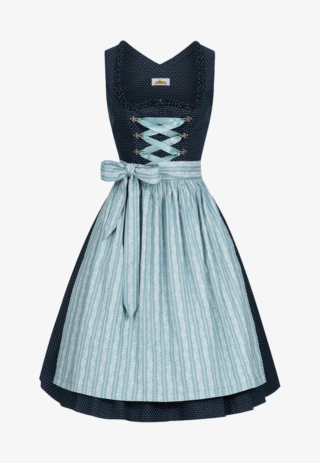 ELKE - Dirndl - dark blue/ice blue