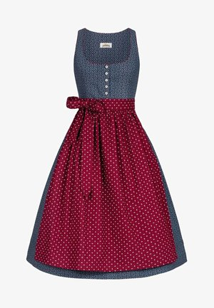 SARAH  - Dirndl - blue/wine red