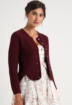 Strickjacke - bordeaux