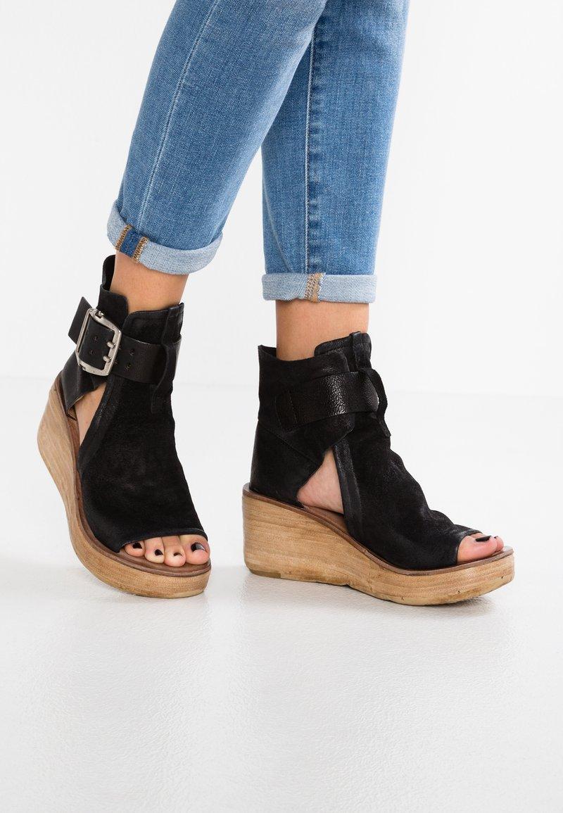 A.S.98 - Platform sandals - schwarz