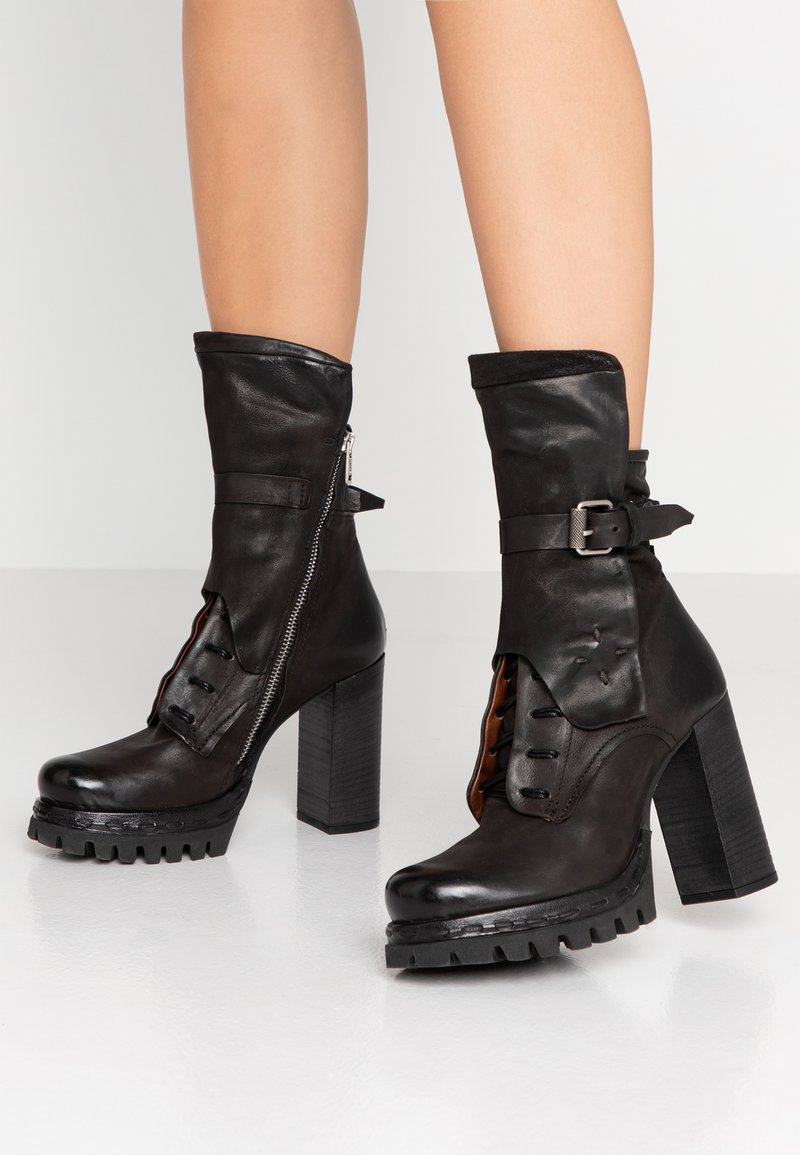 A.S.98 - High heeled boots - nero