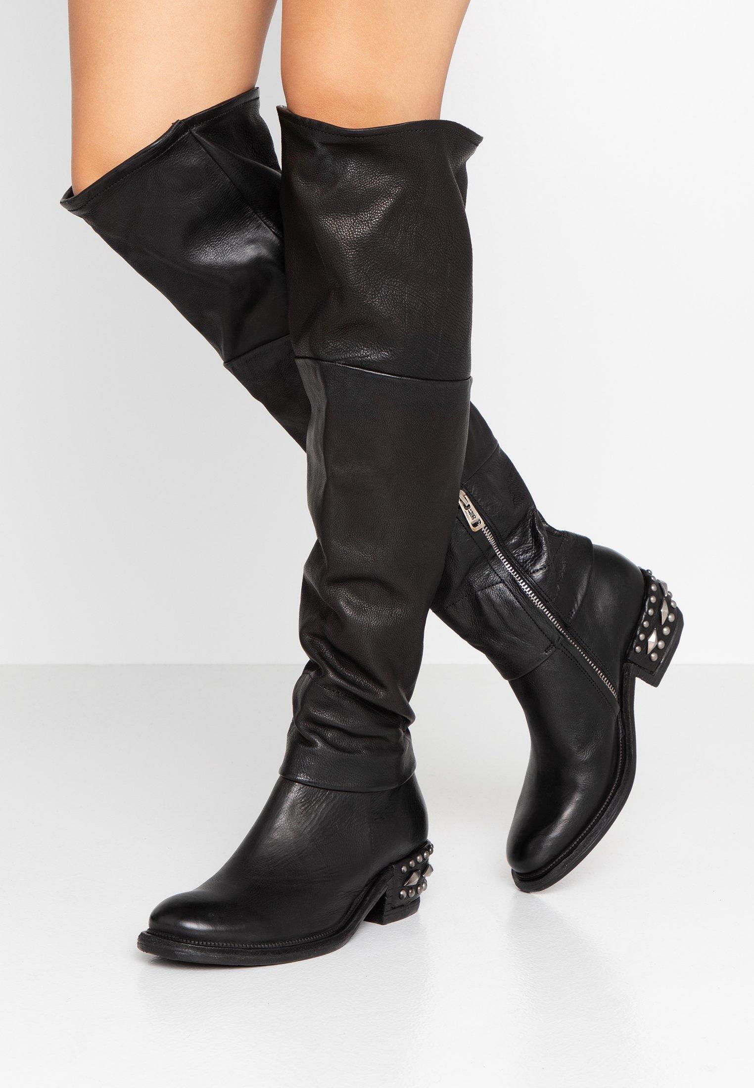 A.S.98 Stivali sopra il ginocchio nero