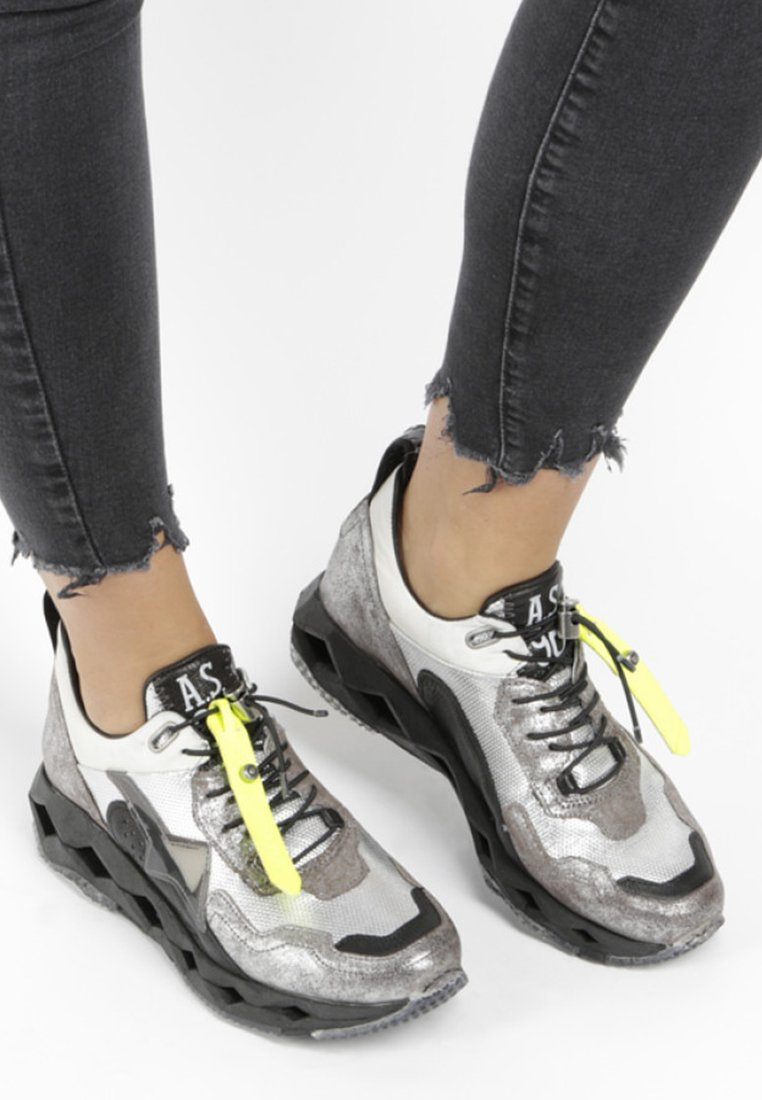 A.S.98 - High-top trainers - silver