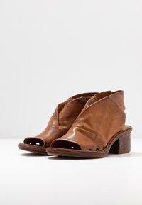 A.S.98 - Ankle cuff sandals - cognac - 3