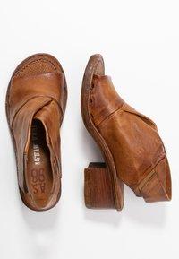 A.S.98 - Ankle cuff sandals - cognac - 2
