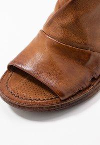 A.S.98 - Ankle cuff sandals - cognac - 6