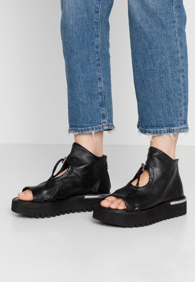 Platform sandals - nero/argento