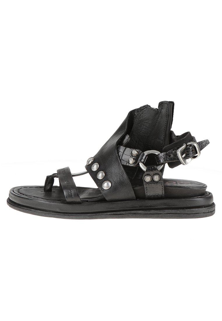 A.S.98 Ankle cuff sandals - black