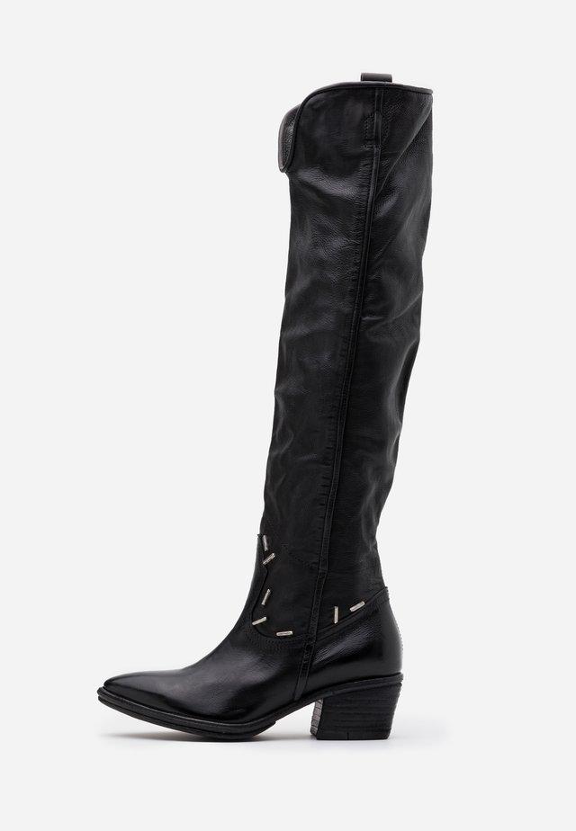 Overknee laarzen - nero