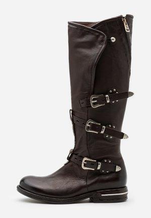 Cowboy/Biker boots - fondente/testa di moro