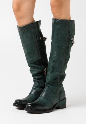Cowboy/Biker boots - balsamic