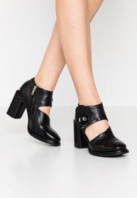 A.S.98 - Kotníková obuv na vysokém podpatku - nero - 0