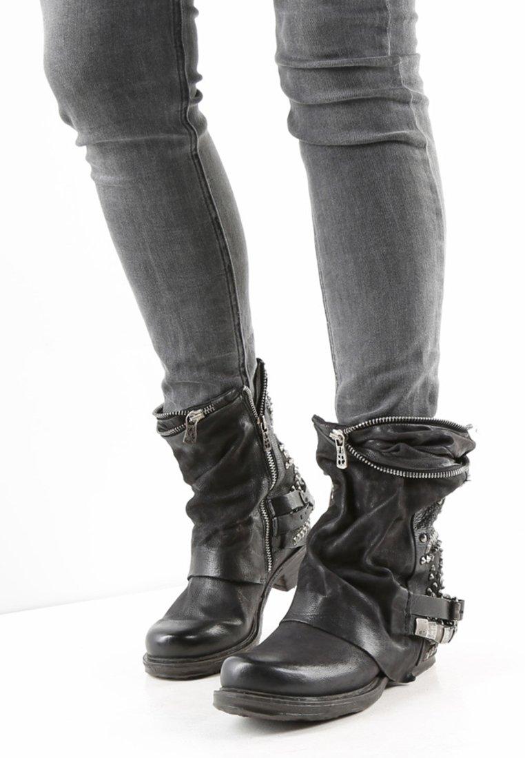 A.S.98 - STIEFELETTE - Cowboy/biker ankle boot - black