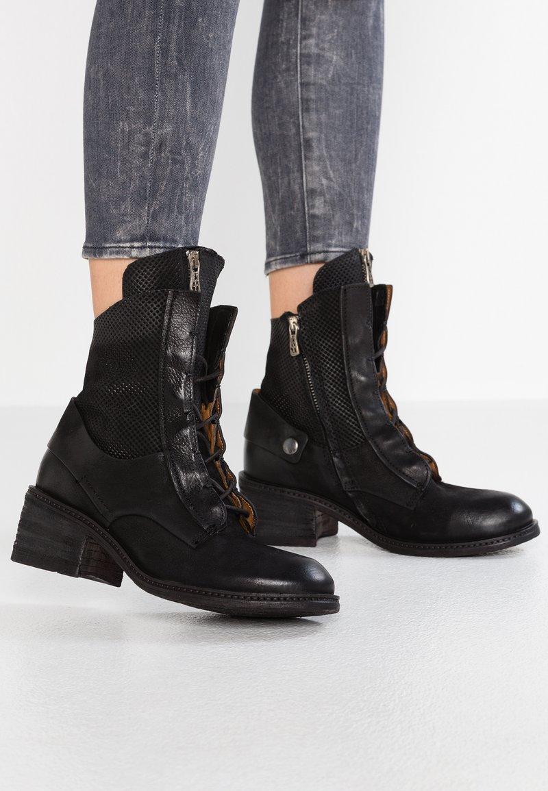 A.S.98 - Cowboy/biker ankle boot - nero