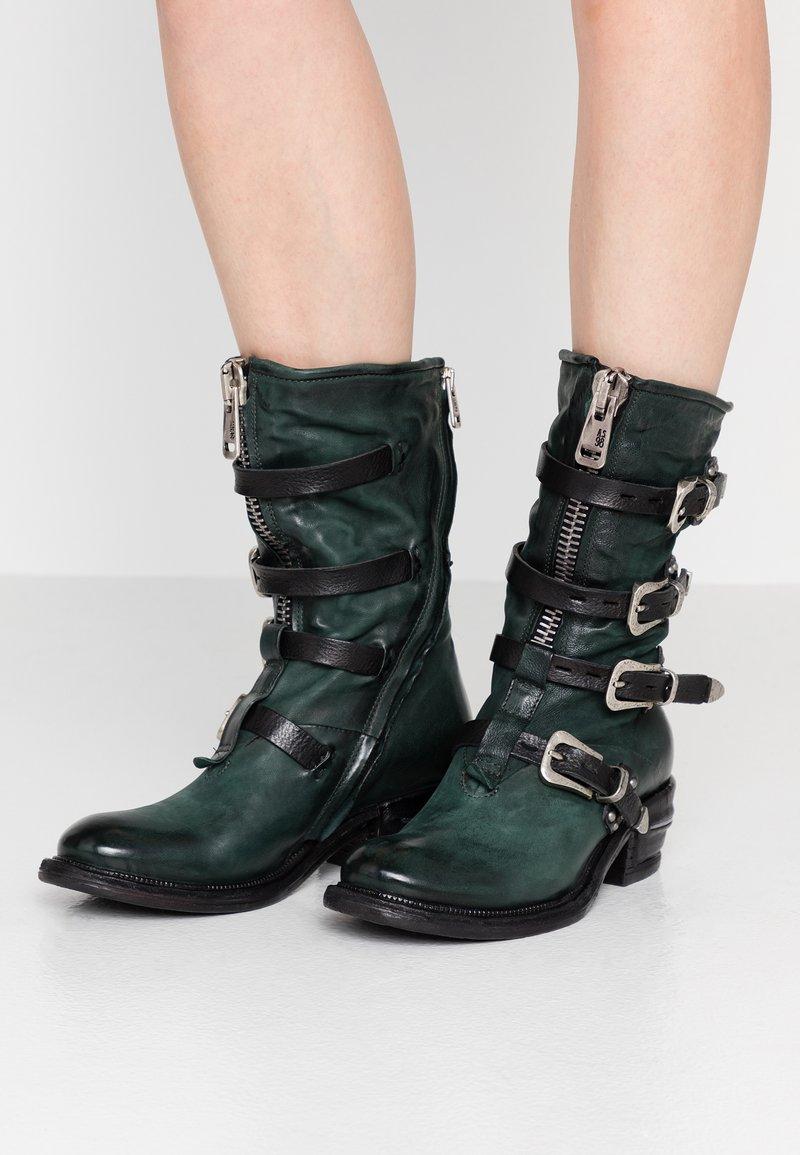 A.S.98 - Cowboy/Biker boots - balsamic