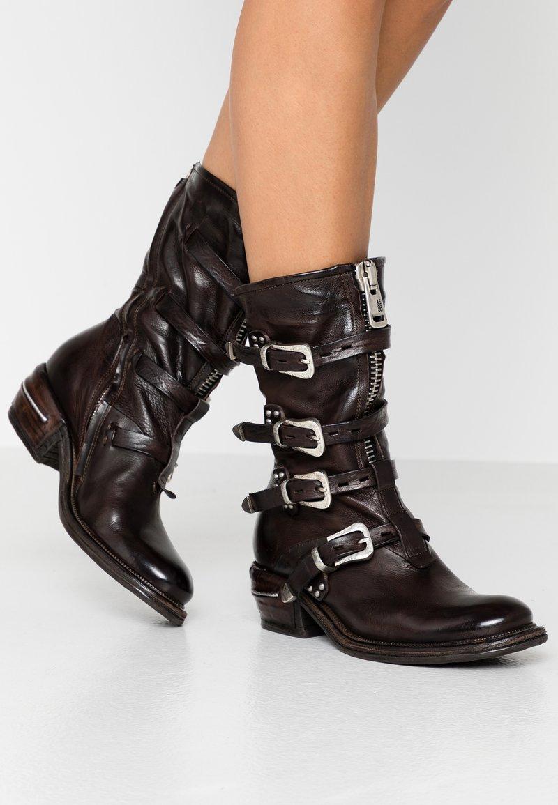 A.S.98 - Cowboy/Biker boots - fondente