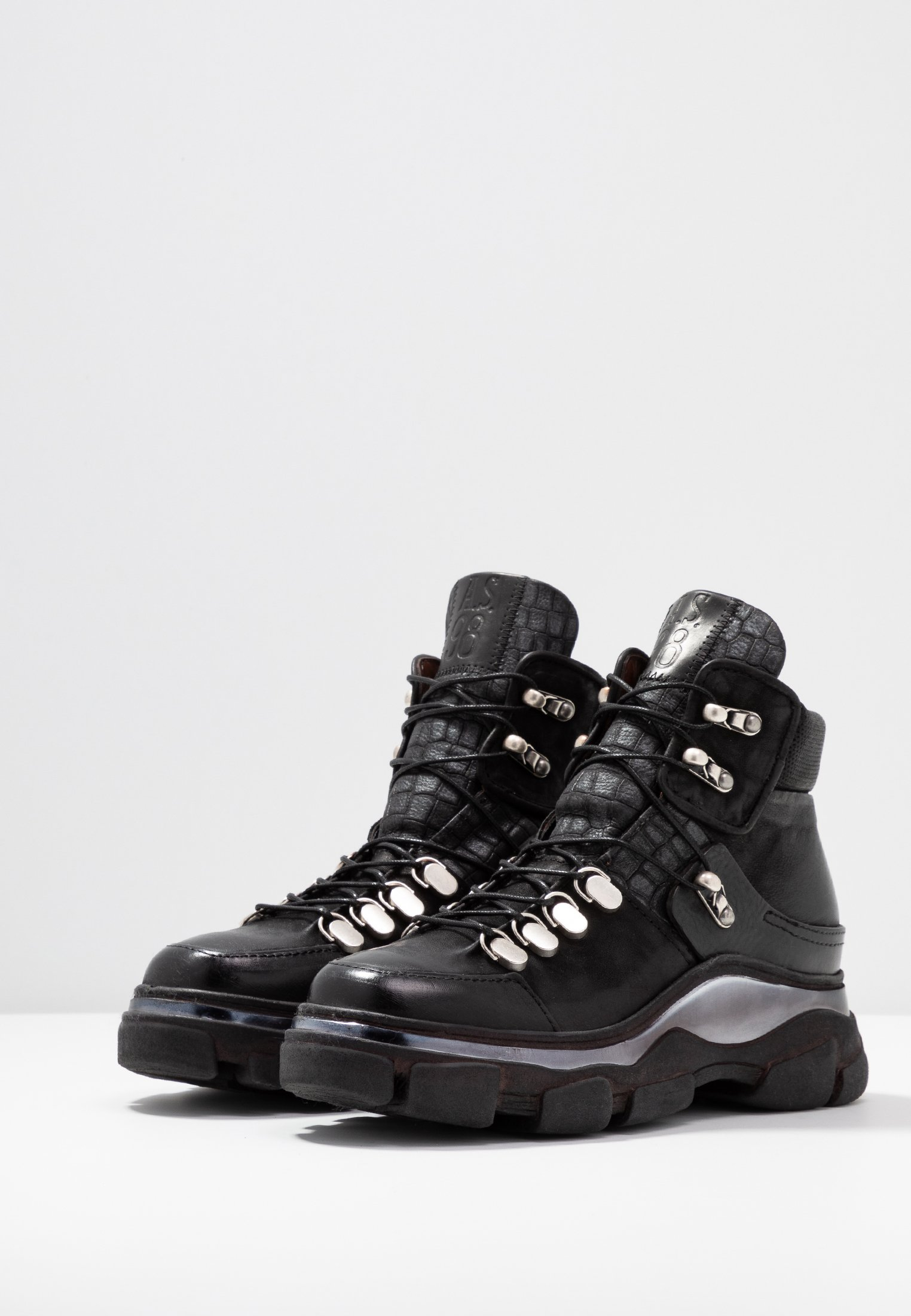 A.S.98 Boots à talons nero