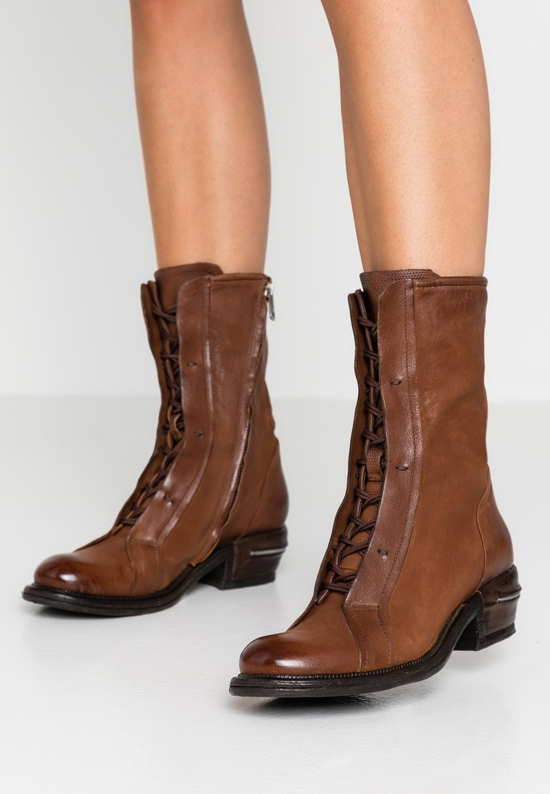 A.S.98 - Lace-up boots - calvados