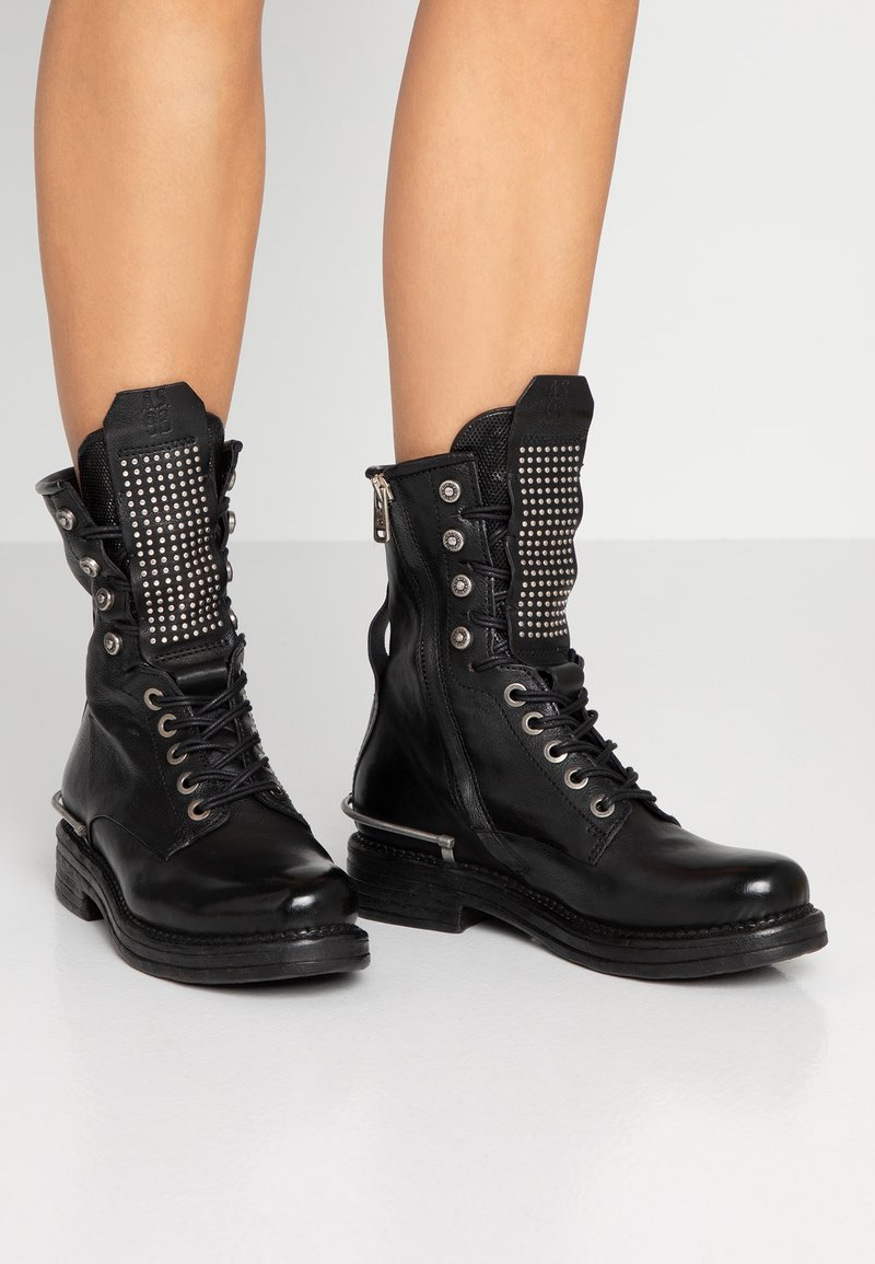 A.S.98 - Cowboy/biker ankle boot - nero